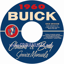 1960 buick shop manual & body manual - all models
