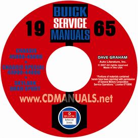 1965 buick shop manuals - all models