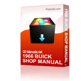 1966 Buick Shop Manual And Body Manual All Models | Other Files | Everything Else