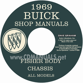 1969 buick shop manual and body manual - all models