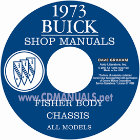 1973 buick shop manual & body manual - all models