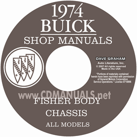 1974 buick shop manual & body manual - all models