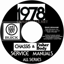 1978 buick shop manual and body manual