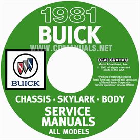 1981 buick shop manuals