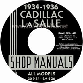 1934-1936 cadillac & lasalle shop manual