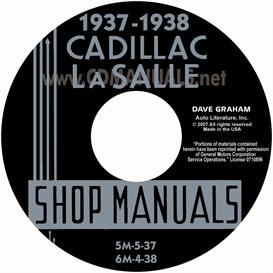1937-1938 cadillac & lasalle shop manual