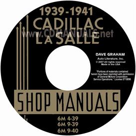 1939-1941 cadillac & lasalle shop manual