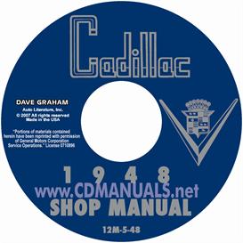 1948 cadillac shop manual- all models