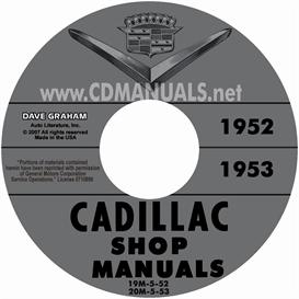 1952-1953 cadillac shop manuals - all models