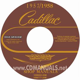 1957-1958 cadillac shop manuals - all models