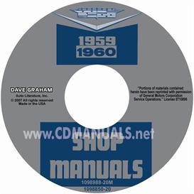 1959-1960 cadillac shop manuals