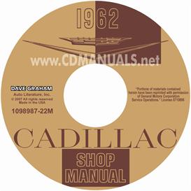 1962 cadillac shop manual - all models