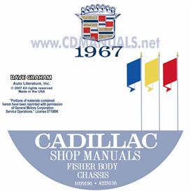 1967 cadillac shop manual & body manual - all models