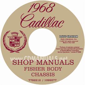 1968 cadillac shop manual & body manual - all models