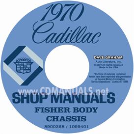 1970 cadillac shop manual & body manual - all models