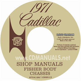 1971 cadillac shop manual & body manual - all models