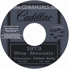 1973 cadillac shop manual & body manual - all models