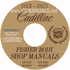1974-1975 cadillac shop manual & body manual - all