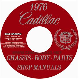 1976 cadillac shop manual and body manual  all models