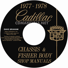 1977-1978 cadillac shop manual & body manual - all models