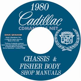 1980 cadillac shop manual & body manual - all models