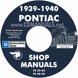 1939-1940 pontiac shop manual - all models