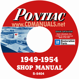 1949-1954 pontiac shop manual - all models