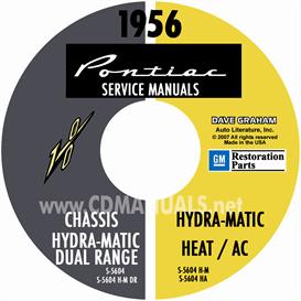1956 pontiac shop manual with body, hydra-matic, heat, & a/c