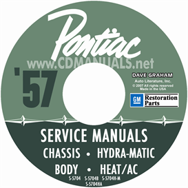 1957 pontiac shop manual with hydra-matic, a/c, & fuel inject