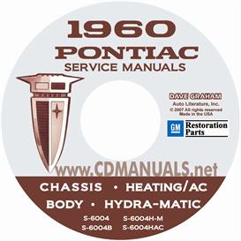 1960 pontiac shop manual with body, hydra-matic, & a/c manual