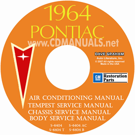1964 pontiac shop manual with body & air conditioning manuals -