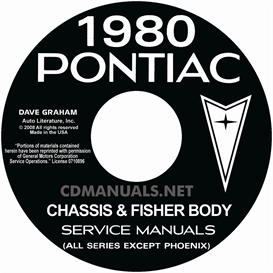 1980 pontiac shop manual & fisher body manual