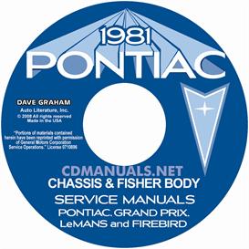 1981 pontiac shop manual & fisher body
