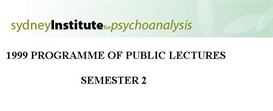 Sydney Institute For Psychoanalysis 1999 Public Lecture Series Term 2 | eBooks | Psychology & Psychiatry