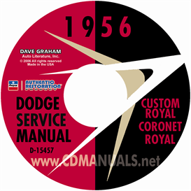 1956 dodge service manual - all models
