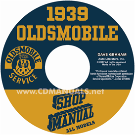 1939 oldsmobile shop manual- all models