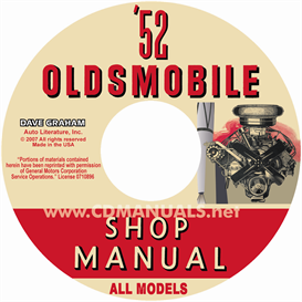 1952 oldsmobile shop manual- all models