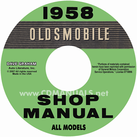 1958 oldsmobile shop manual- all models