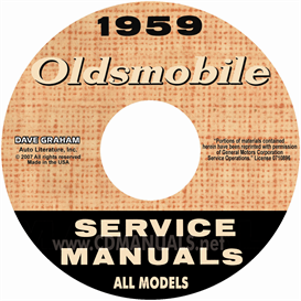 1959 oldsmobile shop manual- all models