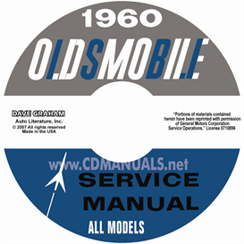 1960 oldsmobile shop manual- all models