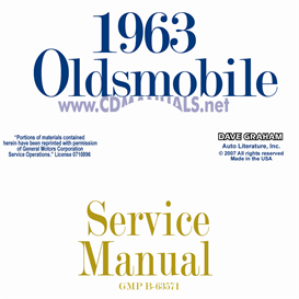 1963 oldsmobile shop manual- all models