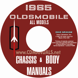 1965 oldsmobile shop manual & body manual- all models