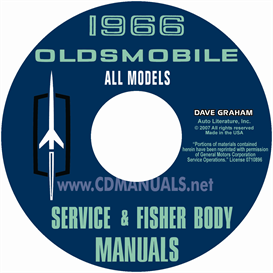 1966 oldsmobile shop manual & body manual- all models