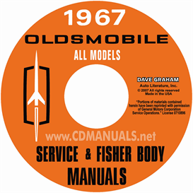 1967 oldsmobile shop manual & body manual- all models