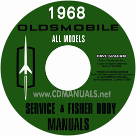 1968 oldsmobile shop manual & body manual- all models