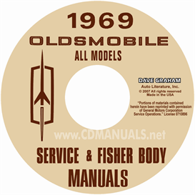 1969 oldsmobile shop & body manual- all models