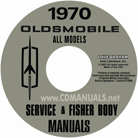 1970 oldsmobile shop manual & body manual- all models