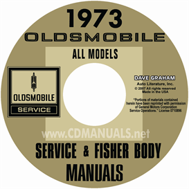 1973 oldsmobile shop manual & body manual- all models