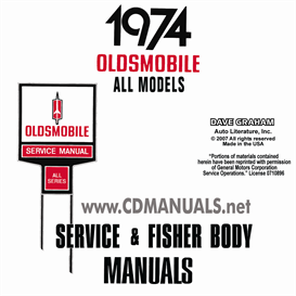 1974 oldsmobile shop manual & body manual- all models