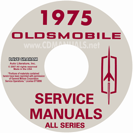 1975 oldsmobile shop manual & body manual